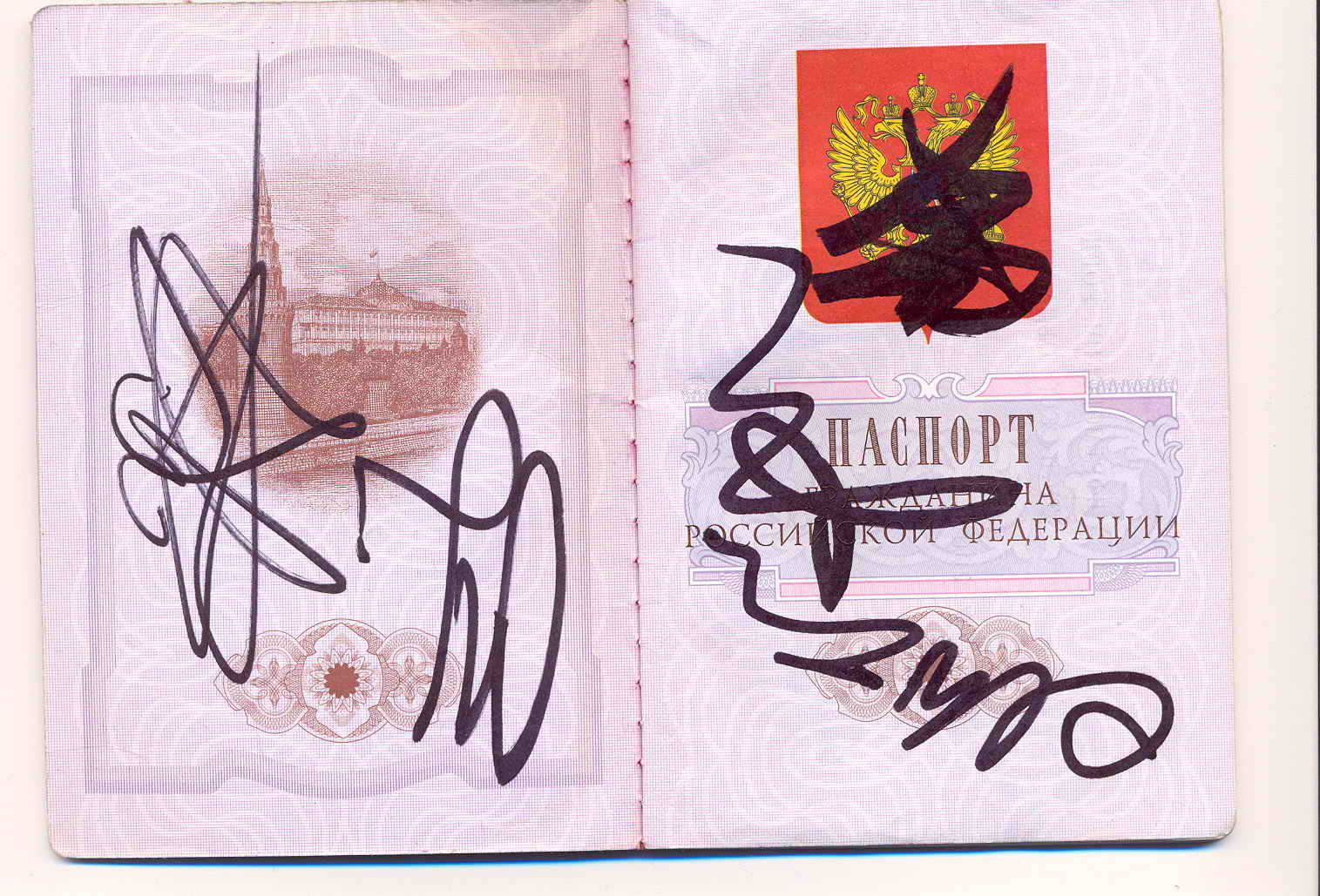 Как сделать в паспорте красивую роспись